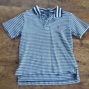 Ralph Lauren boys blue &white polo shirt
